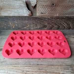 Heart Silicone Mold 24 hearts